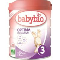 BABYBIO Optima 3 Pokračovacie dojčenské mlieko od 10 mesiaca do 3 rokov BIO 800 g