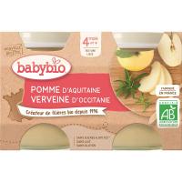 BABYBIO príkrm jablko a vanilka 2x130 g