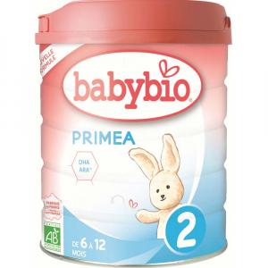 BABYBIO Primae 2 Pokračovacie dojčenské mlieko od 6-12 mesiacov BIO 800 g