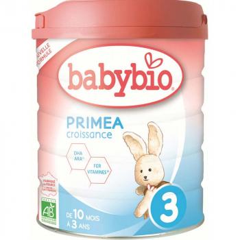 BABYBIO Primea 3 Pokračovacie batoľacie mlieko od 10 mesiaca do 3 rokov BIO 800 g