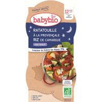 BABYBIO večerné menu Ratatouille po provensálsky s ryžou 2x200 g