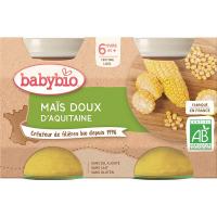 BABYBIO zeleninový príkrm sladká kukurica 2x130 g