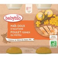 BABYBIO menu skládka kukurica s kuracím mäsom 2x200 g