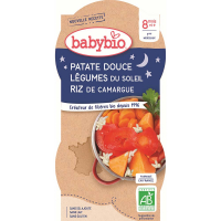 BABYBIO večerné menu sladké zemiaky s letnou zeleninou 2x200 g