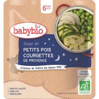 BABYBIO hrášková polievka s cuketou 190 g