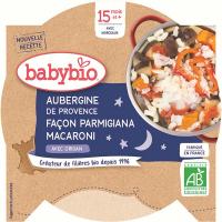 BABYBIO večerné menu baklažán na spôsob Parmigiana s makaróny 260 g