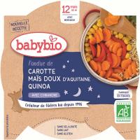 BABYBIO večerné menu mrkvu a sladká kukurica s quinoa 230 g