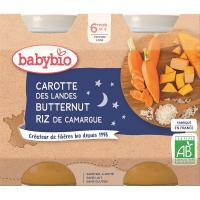 BABYBIO večerné menu mrkvu s tekvicou a ryžou 2x200 g