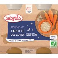 BABYBIO večerné menu mrkvovej Moulin a quinoa 2x200 g