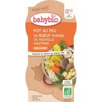 BABYBIO menu zelenina s hovädzím mäsom 2x200 g