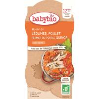 BABYBIO menu zelenina s kuracím mäsom a quinoa 2x200 g