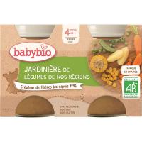 BABYBIO zeleninový príkrm zeleninová zmes 2x130 g