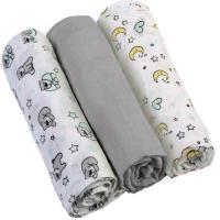 BABYONO Plienky mušelínové Super soft sivé 3 ks