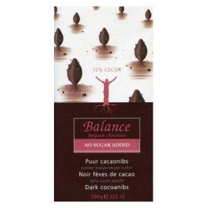 BALANCE 72% horká čokoláda s kakaovými bôbmi bez pridaného cukru 100 g