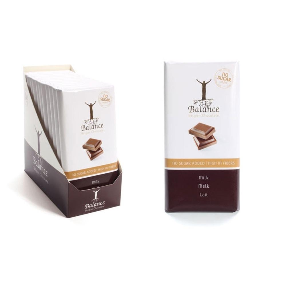 Balance mliečna čokoláda bez pridaného cukru 100g