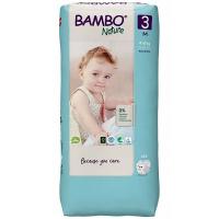 BAMBO Nature 3 Detské plienkové nohavičky 4-8 kg 52 ks