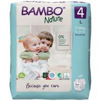 BAMBO Nature 4 Detské plienkové nohavičky 7-14 kg 24 ks