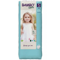 BAMBO Nature 5 Detské plienkové nohavičky 12-18 kg 44 ks