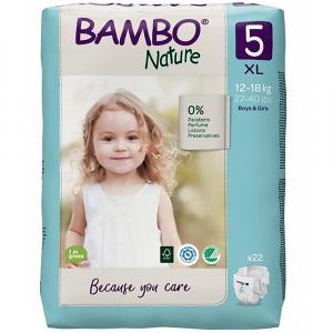 BAMBO Nature 5 Detské plienkové nohavičky 12-18 kg 22 ks