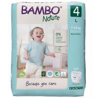 BAMBO Nature Pants 4 Navliekacie tréningové plienkové nohavičky 7-14 kg 20 ks