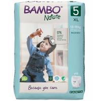 BAMBO Nature Pants 5 Navliekacie tréningové plienkové nohavičky 12-18 kg 19 ks