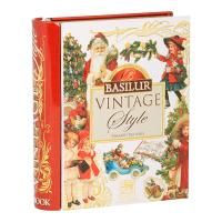 BASILUR Book Vintage Style pyramid čierny čaj 5 sáčkov
