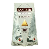BASILUR Four Seasons Winter Tea pyramid čierny 1+1 ZADARMO