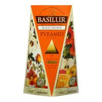 BASILUR Fruit Infusions Blood Orange pyramid ovocný čaj 15 sáčkov