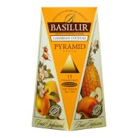 BASILUR Fruit Infusions Caribbean Cocktail pyramid ovocný čaj 15 sáčkov