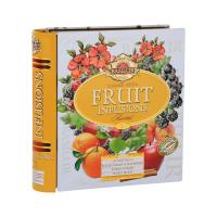 BASILUR Fruit Infusions Book Summer Fiesta zmes ovocných čajov 32 sáčkov