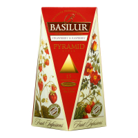 BASILUR Fruit Infusions Strawberry & Raspberry pyramid ovocný čaj 15 sáčkov