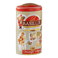 BASILUR Vintage Style Merry Christmas čierny sypaný čaj 100 g