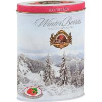 BASILUR Winter Berries Raspberries čierny čaj 100 g