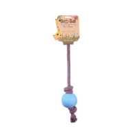 BECO Ball EKO lano s loptičkou pre psov - modrá S
