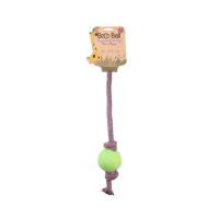 BECO Ball EKO lano s loptičkou pre psov - zelená L