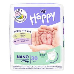 HAPPY Nano Detské plienky do 700 g 30 ks