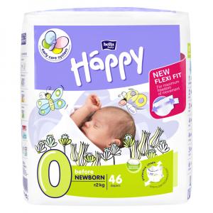 HAPPY Before NewBorn  Plienky 0-2 KG 46 ks