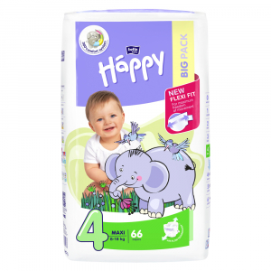 BELLA HAPPY Maxi Big Pack detské plienky 8-18 kg 66 ks