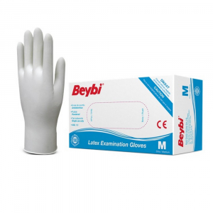 BEYBI Latexové rukavice veľkosť M 100 kusov