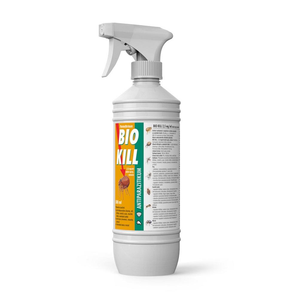 BIO KILL 2,5mg / ml kožný sprej emulzia 500 ml