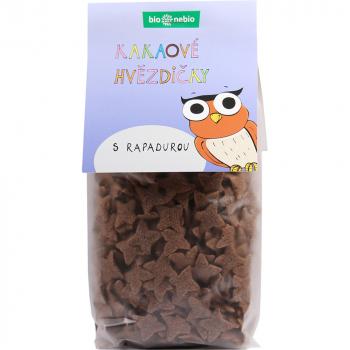 BIO NEBIO Kakaové hviezdičky s Rapadurou BIO 150 g