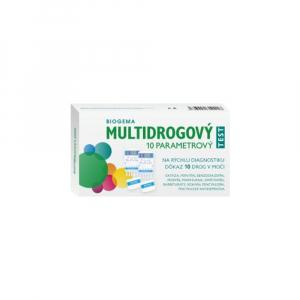 BIOGEMA Multidrogový test na stanovenie drog v moči 10 parametrový 2 ks