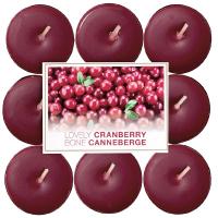 BOLSIUS Čajové sviečky Lovely Cranberry 18 ks