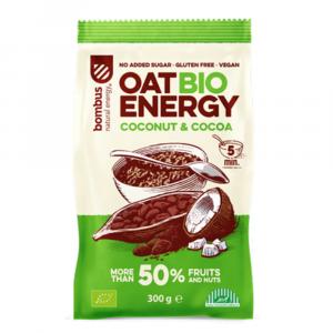 BOMBUS Oat energy coconut & cocoa ovsená kaša 300 g BIO