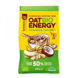 BOMBUS Oat energy banana & coconut ovsená kaša 65 g BIO