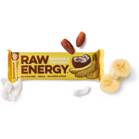 BOMBUS Raw energetická tyčinka banán a kokos 50 g
