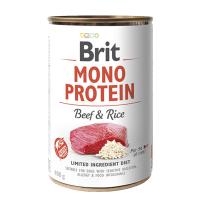 Brit MONO PROTEIN Beef & Rice konzerva pre psov 400 g