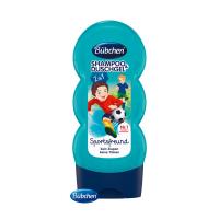 BÜBCHEN Kids šampón a sprchovací gél 2v1 Malý futbalista 230 ml