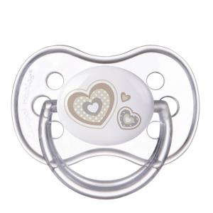 CANPOL BABIES Cumlík silikónový symetrický NEWBORN BABY 0-6m béžový