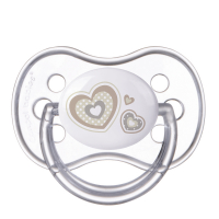 CANPOL BABIES Cumlík silikónový symetrický NEWBORN BABY 6-18m béžový